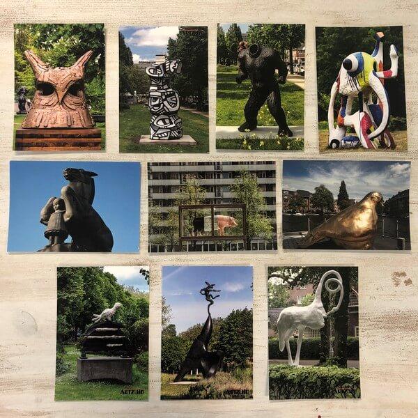 Artzuid ansichtkaarten set dieren